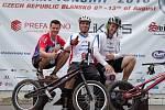 Zleva Adam Procházka, Pavel Procházka, Matěj Popelka. Přerovští biketrialisté na MS 2016 v Blansku.