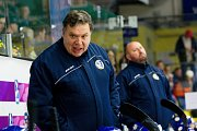 Hokejisté Přerova (v modrém) proti Třebíči