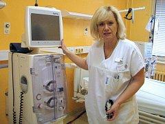 Primářka oddělení hemodialýzy přerovské nemocnice Iva Nikorjaková