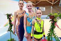 Moderní gymnastky TJ Spartak Přerov na mistrovství republiky