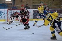 Přípravné utkání hokejistů Prostějova s Přerovem (ve žlutém). Ilustrační foto