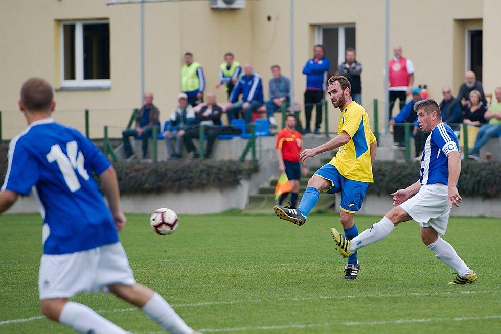 Fotbalisté Kozlovic proti SK Hranice
