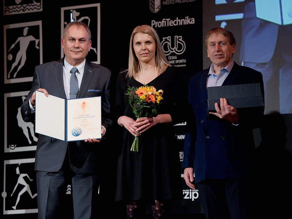 Vyhlášení Sportovce Olomouckého kraje za rok 2019 v Městském domě v Přerově. Nejlepší dospělý kolektiv VK UP Olomouc