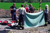 Boj o život dělníka ve výkopu v Hustopečích nad Bečvou