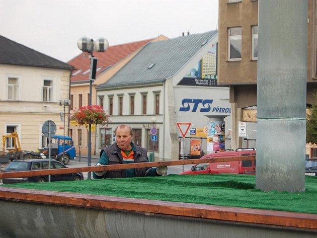 Zazimování kašny na náměstí T. G. Masaryka v Přerově