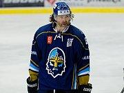 Jaromír Jágr v kladenském dresu při zápase WSM ligy s Přerovem v Meo Aréně