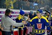 Hokejisté HC Zubr Přerov nastoupili do utkání s Kladnem ve speciálních retro dresech připomínajících 90 let od založení prvního hokejového oddílu ve městě a slavnou éru pod názvem TJ Lokomotiva Meochema.