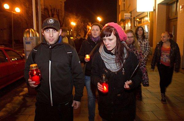 Druhý protest Za Michala měsíc po tragické střelbě ubaru Lumír vPřerově
