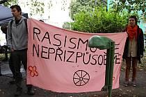 Na náměstí TGM v Přerově se sešli v sobotu 21. září stoupenci krajně pravicového uskupení Čeští lvi a na náměstí Františka Rasche iniciativa Blokujeme.