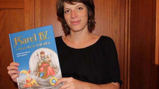 Autorkou ilustrací knihy pro děti o Karlu IV., která se v nejbližších dnech objeví na pultech knihkupectví, je Barbora Botková z Přerova.