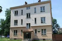 Budova učiliště v ulici Velké Novosady, ještě jako odloučené pracoviště Střední elektrotechnické školy v Lipníku