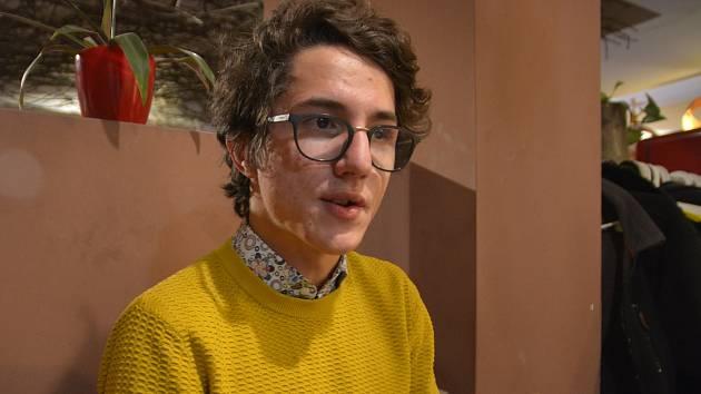 David Stančík, student Gymnázia Jakuba Škody v Přerově, který vyhrál celostátní soutěž o nejlepší studentský podnikatelský nápad