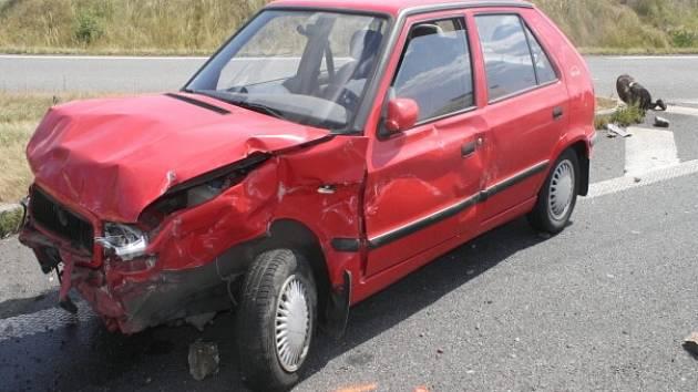 Víkendová dopravní nehoda dvou aut na Horecku