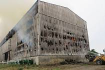 Požár skladu sena v Želatovicích, 14. 7. 2021