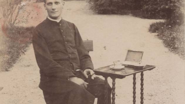 Lev svobodný pán Skrbenský na jeho návštěvě v Citově na zámku v roce 1890