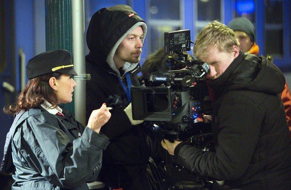 Natáčení studentského filmu Přistoupili? na přerovském nádraží