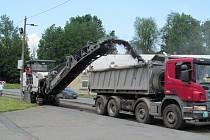 Práce na cestě do Dřevohostic začala v pondělí 1. června
