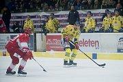 Hokejisté Přerova (ve žlutém) proti Frýdku-Místku
