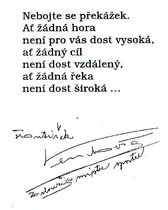 Vzkaz Františka Venclovského