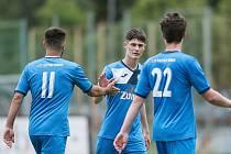 Fotbalisté 1. FC Viktorie Přerov (v modrém). Ilustrační foto