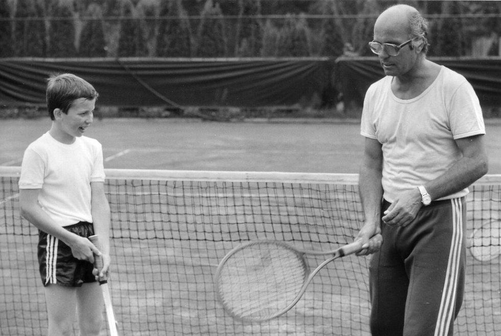 Tenisové začátky Radka Štěpánka
