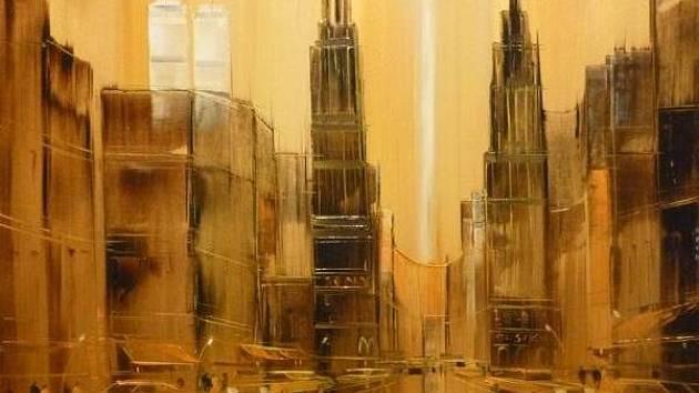 Obraz Manhattan brněnského rodáka Heinze-Jurgena Leppera Menzingera