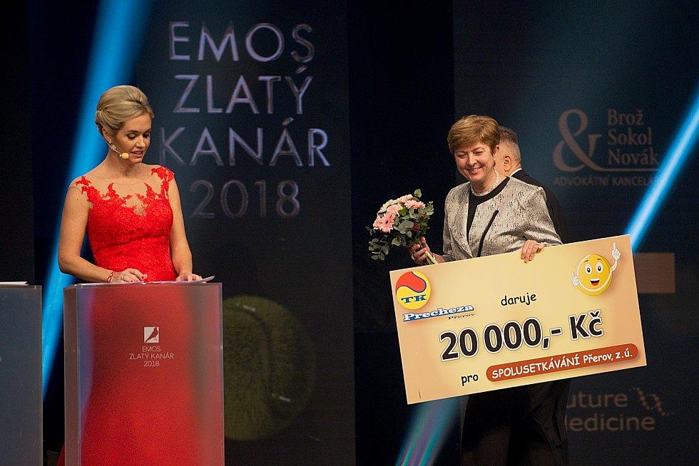 Galavečer k anketě Zlatý kanár 2018 v hale TJ Spartak Přerov.