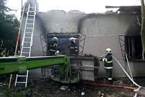 Požár rodinného domku v Jezernici