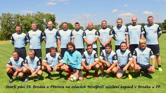 Starší páni FK Brodek u Přerova – S. Majetín 2020.
