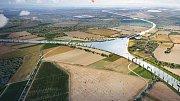 Vizualizace toho, jak by mohla v budoucnu vypadat křižovatka tří moří u obce Rokytnice u Přerova.