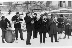 Masopustní kapela – únor 1944.