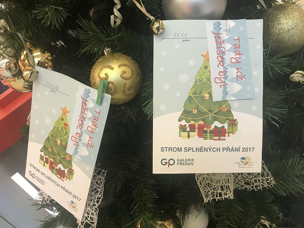 Také letos mohli lidé udělat na Vánoce radost dětem z dětského domova. Charitativní akce Strom splněných přání se v Přerově koná podruhé.