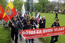 Pochod radikálů v Přerově - 1. května 2016