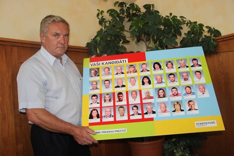 Antonín Prachař v roce 2018 jako lídr Hnutí Starostové a nezávislí pro komunální volby v Přerově