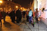 Připomínka výročí 17. listopadu na náměstí T. G. Masaryka v Přerově