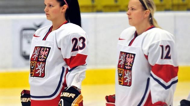 Hokejový zápas ženských reprezentací ČR a Slovenska v Přerově