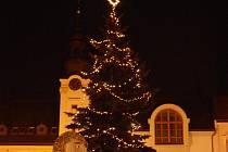 Vánoční strom v Kojetíně