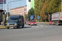 Rozhraní ulic Velké Novosady a Komenského v Přerově