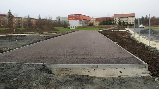 Rekonstrukce areálu SK Přerov v Alšově ulici.
