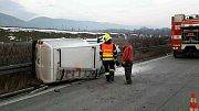 Nehoda dvou dodávek u Lipníku nad Bečvou
