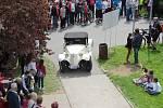 Tradičního Helfštýnského okruhu se zúčastnilo přes sto dvacet historických vozidel.