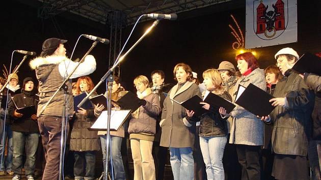 Vánoční hvezdičky v Přerově. Ilustrační foto
