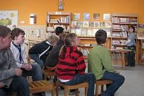 Dětské oddělení tovačovské knihovny v nových prostorách ve škole