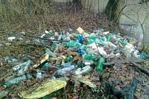 Odpadky na Žebračce