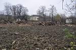 Demolice domů v romském ghettu ve Škodově ulici v Přerově