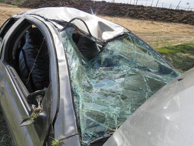 Mikrospánek zapříčinil nehodu na silnici směr od Přerova na Kokory