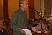 Vladimír Puchalský, zastupitel za stranu Společně pro Přerov, se vyjádřil proti stěhování radnice na Horní náměstí.