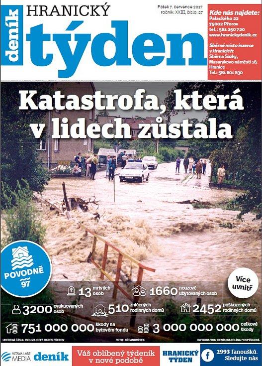 Týdeník Hranický týden - speciál ke 20 letům od povodní 1997