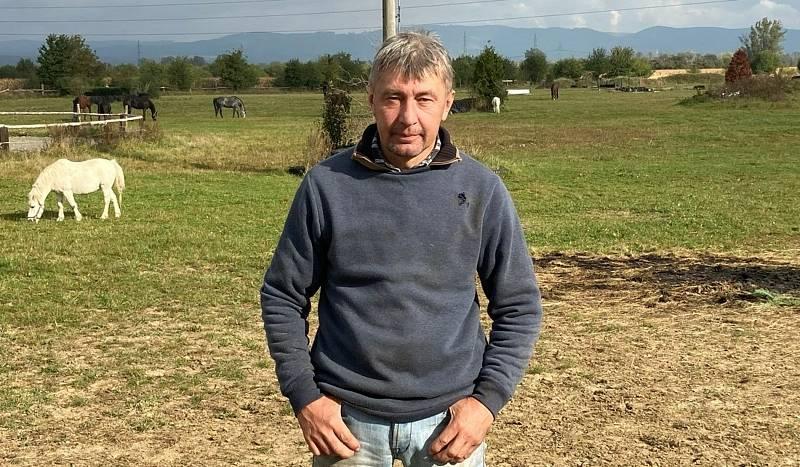 Dostihový jezdec z Radslavic Pavel Složil starší.