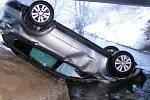 Nehoda subaru u Brodku u Přerova